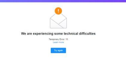 Probleme pentru utilizatorii de YAHOO! Mail-ul NU poate fi accesat