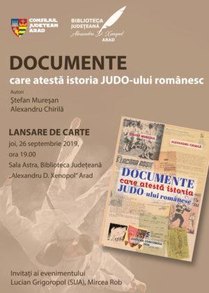 """""""Documente care atestă istoria judo-ului românesc"""", la Biblioteca Județeană"""