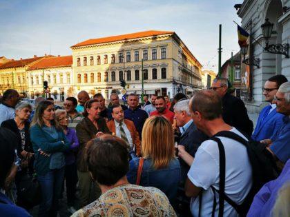 Europarlamentarul Mircea Diaconu s-a întâlnit cu arădenii