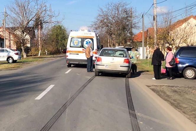 Biciclist băut lovit de o mașină pe o stradă din Arad