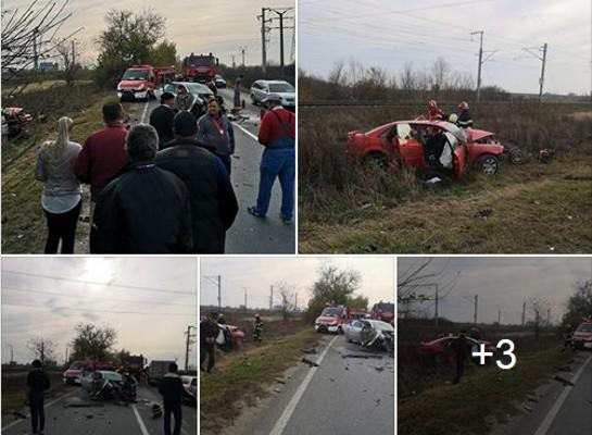 ACCIDENT GRAV la ieşirea din Arad: Două VICTIME, dintre care una în STOP CARDIO RESPIRATOR