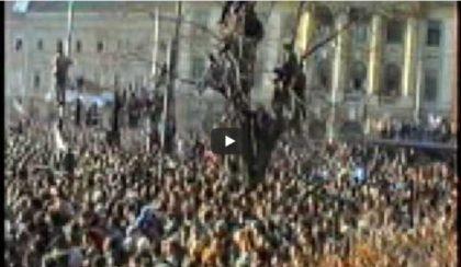 Au trecut 30 de ani de când arădenii au ieșit la protest împotriva regimului Ceaușescu (VIDEO)