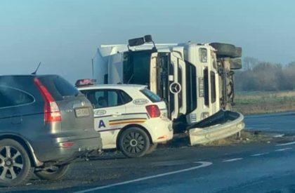ACCIDENT și trafic BLOCAT parțial pe drumul Arad – Oradea