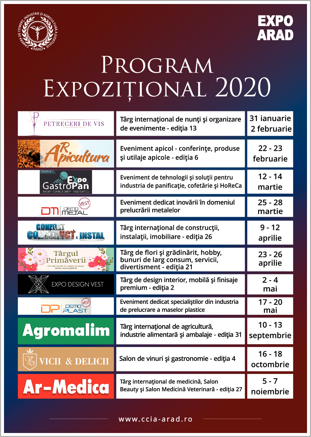 Ce TÂRGURI vor putea vizita arădenii la EXPO ARAD anul acesta