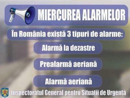 """Sirenele din Arad au emis astăzi semnalul """"Prealarmă aeriană"""""""