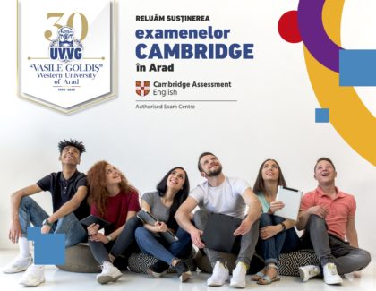 Se reiau examenele CAMBRIDGE la Arad British Language Centre UVVG