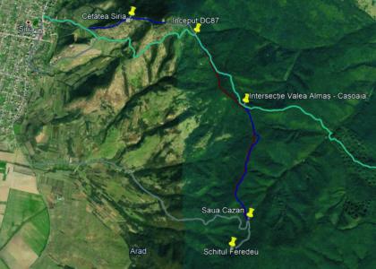 AVERTISMENT: Nu vă deplasați pe traseul turistic Șiria – Valea Almașului – Căsoaia