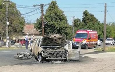 ACCIDENT CUMPLIT: Un motociclist și-a pierdut viața după impactul cu un SUV, soldat cu o EXPLOZIE