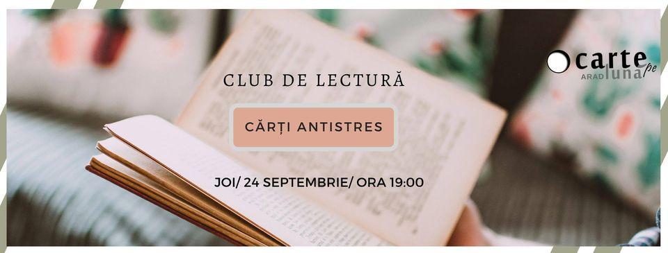 """Arădenii care iubesc cărțile sunt așteptați la cel mai cool book club din oraș, """"O Carte pe Lună Arad"""""""