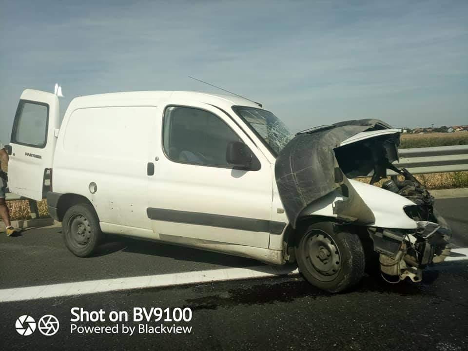 ACCIDENT pe Autostrada Vestului (FOTO)