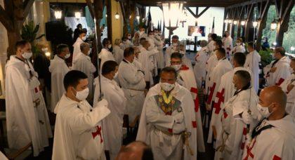 Eveniment unic la Moneasa. Pentru prima dată de la înființarea Ordinului Cavalerilor Templieri OSNTH, înnobilarea a avut loc în aer liber