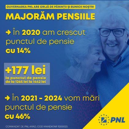 PNL a oferit pensionarilor într-un an cât alții într-un deceniu: pensiile au crescut cu 14% şi vor fi majorate cu 46% până în 2024