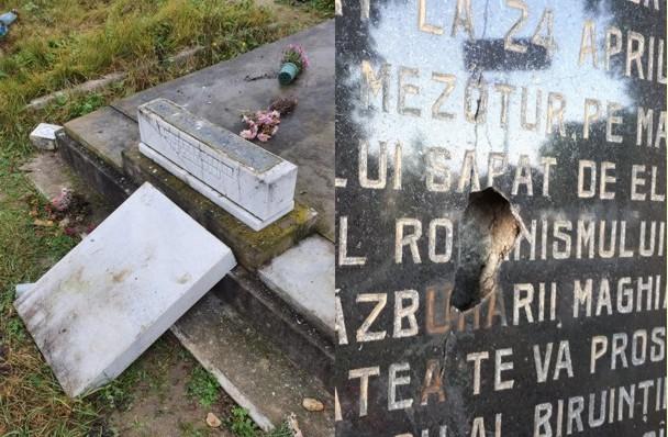 """În Europa Unită a secolului 21, """"patrioții"""" români și unguri se """"războiesc"""" prin cimitire, profanând morminte (GALERIE FOTO)"""