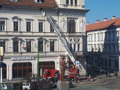 Pompierii au intervenit în centrul orașului. Ce s-a întâmplat