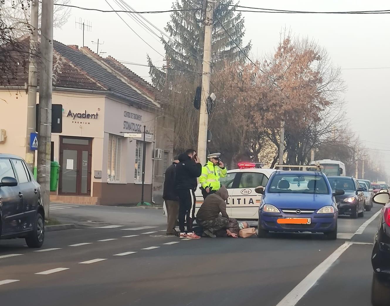 UPDATE/ ACCIDENT în municipiu! Un pieton, LOVIT pe trecere