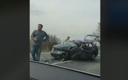 NEWS ALERT: Accident rutier pe drumul Arad – Oradea (VIDEO)