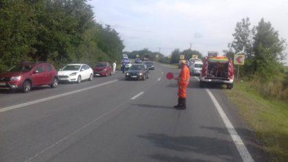 Trafic îngreunat pe drumul dintre Arad și Timișoara, în urma unui accident în lanț