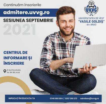 """Continuă înscrierile la Universitatea de Vest """"Vasile Goldiş"""" din Arad"""